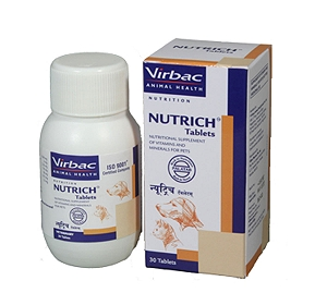 Virbac Nutrich Multivitamin Supplement - 60 Tablets
