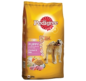 Pedigree Dog Food Puppy Chicken & Milk 10 Kg