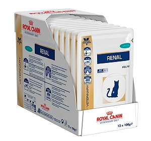 Royal Canin Veterinary Diet Renal Chicken Cat Pouch - 1.2 Kg
