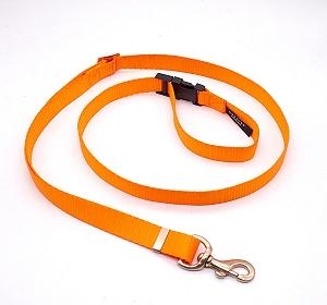 Forfurs Adjustable Protean All Breed Leash - Neon Orange