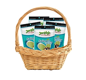 Jerhigh Spinach Style Stix Dog Treat - 100 gm (Pack Of 5)