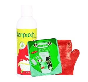 Shampooch Aloevera Shampoo For Dog - 250 ml With Glove & Towel
