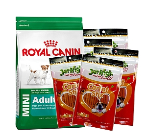 Royal Canin Mini Adult - 4 Kg With JerHigh Carrot Stick Dog Treats