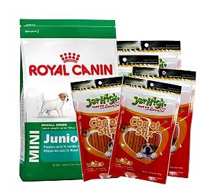 Royal Canin Mini Junior - 4 Kg With JerHigh Carrot Stick Dog Treats