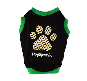 DogSpot Asymmetric Brown Print T- shirt-Size 24