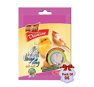 Vitapol Vitaline Sing Sing For Canary - 20 gm (Pack Of  6)