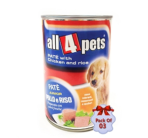 Monge Pate Chicken And Rice Can Food For Puppy - 400 Gm (Pack Of  3)