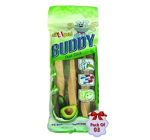 Dog Treat Buddy Dual Stick With Avocado & Milk - 75 gm (Pack Of 3)