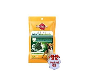 Pedigree Dentafreshstix Adult Small - 75 gm (Pack Of 3)