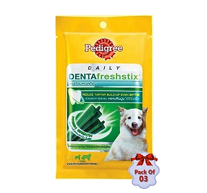Pedigree Dentafreshstix Adult Medium - 86 gm (Pack Of 3)