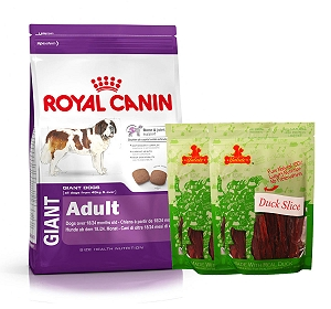 Royal Canin Giant Adult - 4 Kg  With Duck Slices