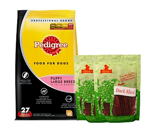Pedigree Dog Food Puppy Large Breed Professional - 3 Kg  With Duck Slices