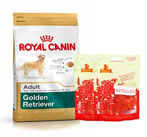 royal canin golden retriever adult 3 kg with chicken slices dogspot online pet supply store. Black Bedroom Furniture Sets. Home Design Ideas
