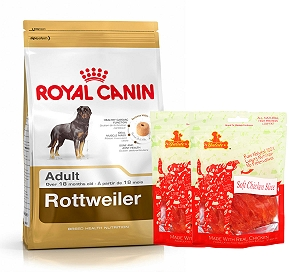 Royal Canin Rottweiler Adult - 3 Kg  With Chicken Slices