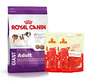 Royal Canin Giant Adult - 4 Kg  With Chicken Slices