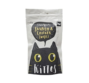 Kittos Sunfish and Chicken Twirls Cat Treat - 35 gm