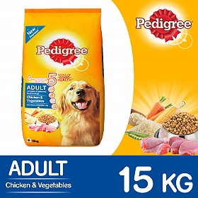 Pedigree Dog Food Adult Chicken & Vegetables - 15 Kg