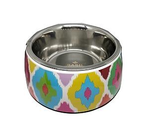 Basil Malamine Bowl Ikat Print - Small