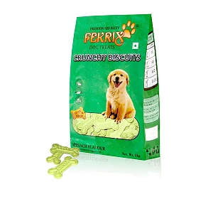 Fekrix Crunchy Veg Biscuit Spinach flavor - 1kg