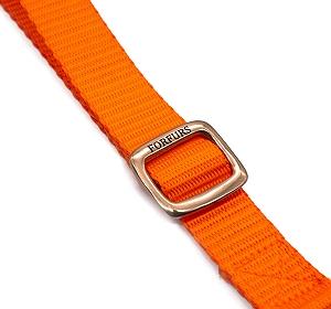 Forfurs Adjustable Classic Dog Collar Neon Orange - Small