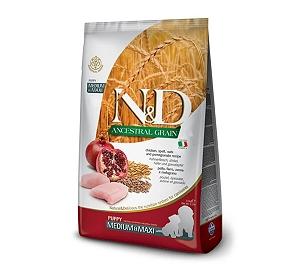 Farmina N&D Dry Dog Food Chicken & Pomegranate Puppy Medium & Maxi Breed - 2.5 Kg (Pack Of 4)