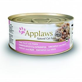 Applaws Cat Can Food Tuna Fillet With Prawns -70 gm (24 cans)