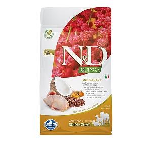Farmina N&D Dry Dog Food Grain Free Quinoa Skin & Coat Quail Adult - 800 gm (Pack Of 10)