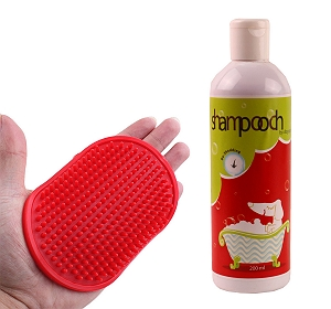 Shampooch Shed Control Shampoo For Dog - 200 ml With Rubber Hand Brush