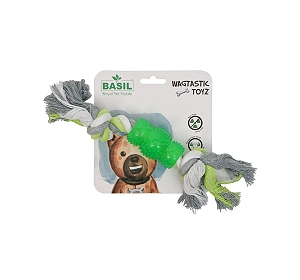 Basil Rope with TPR Dog Toy
