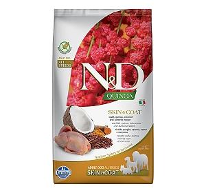 Farmina N&D Dry Dog Food Grain Free Quinoa Skin & Coat Quail Adult - 2.5 Kg (Pack Of 4)