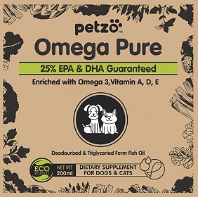 Petzo Omega Pure Omega 3 Supplement - 200 ml