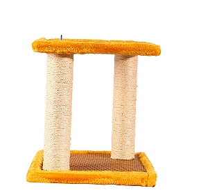 CatSpot Mosaic Cat Tree With Hammock (LxBxH - 12.5x12.5x24.4) Inches - Yellow