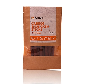 PetSpot Chicken & Carrot Sticks - 70 gm