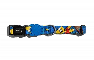 Zeedog Bart Simpson Dog Collar- Medium