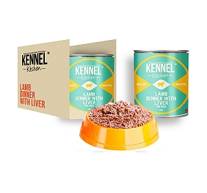 Kennel Kitchen Lamb Dinner With Liver Can Food - 430 gm