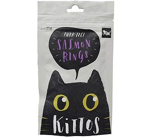 Kittos Salmon Rings Cat Treat - 35 gm