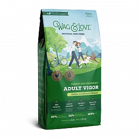 Wag & Love Grain Free Adult Vigor Small & Medium Breed Chicken, Carrot & Cranberry - 3.5 Kg