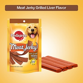 Pedigree Meat Jerky Grilled Liver Flavor - 80 gm (Pack of 12)