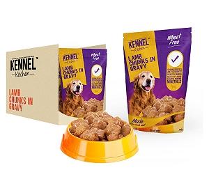 Kennel Kitchen Lamb Chunks In Gravy - 100 gm (30 Packs)