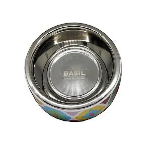 Basil Malamine Bowl Ikat Print - Large