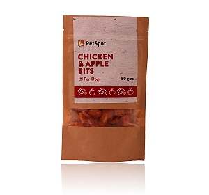 PetSpot Chicken & Apple Bits - 50 gm