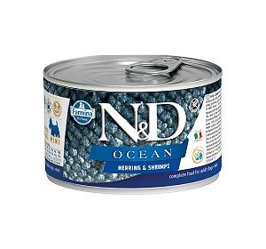 Farmina N&D Wet Dog Food Grain Free Ocean Herring & Shrimp Mini Adult - 140 gm (6 Cans)