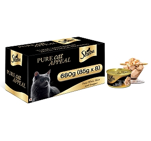 Sheba Deluxe Tuna White Meat & Snapper In Gravy For Adult Cat - 85 gm (Pack Of 8)