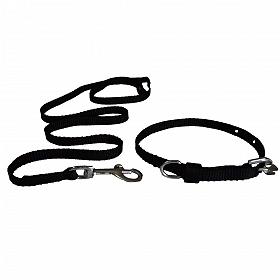 DogSpot Nylon Leash & Collar Set Black- XLarge