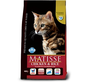 Matisse Adult Cat Food Chicken & Rice - 400 gm (Pack Of 12)