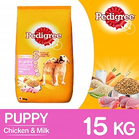 Pedigree Dog Food Puppy Chicken & Milk - 15 Kg