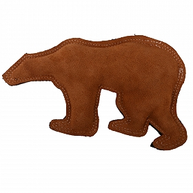 DogSpot Dura Fused Leather Polar Bear Dog Toy