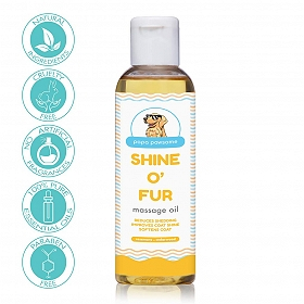 Papa Pawsome Shine O' Fur Massage Oil for Dog - 100 ml