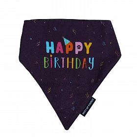 Mutt Of Course Happy Birthday Bandana - Large