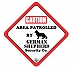 Vacky Pet Car Signs with Caption Caution German Shepherd   - (6X6) Inch